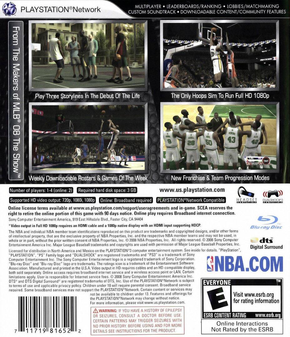 NBA '09: The Inside PS3 backHQ (BCUS98165)