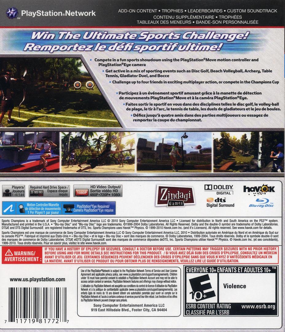 Sports Champions Array backHQ (BCUS98177)