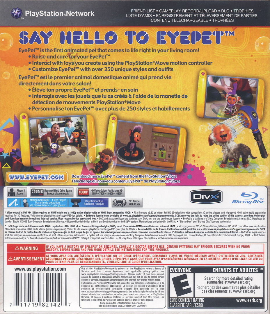 EyePet: Move Edition PS3 backHQ (BCUS98214)