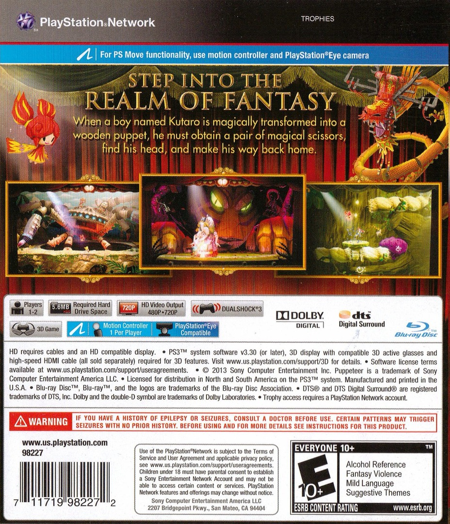 Puppeteer PS3 backHQ (BCUS98227)