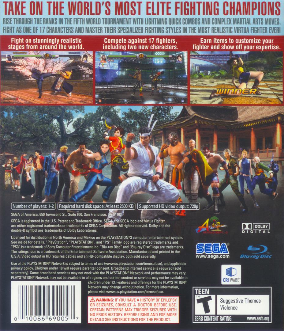 Virtua Fighter 5 PS3 backHQ (BLUS30020)