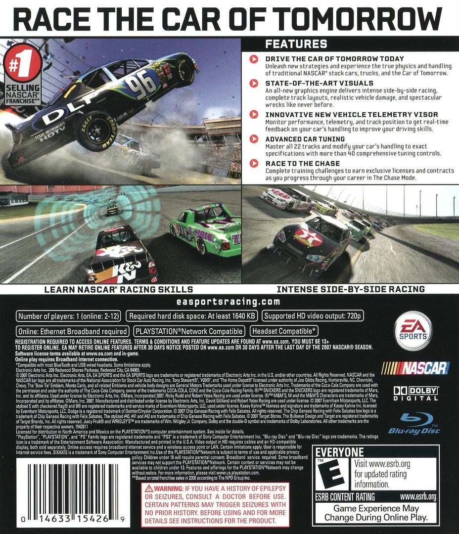 NASCAR '08 Array backHQ (BLUS30040)