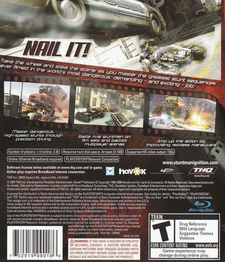Stuntman: Ignition PS3 backHQ (BLUS30073)