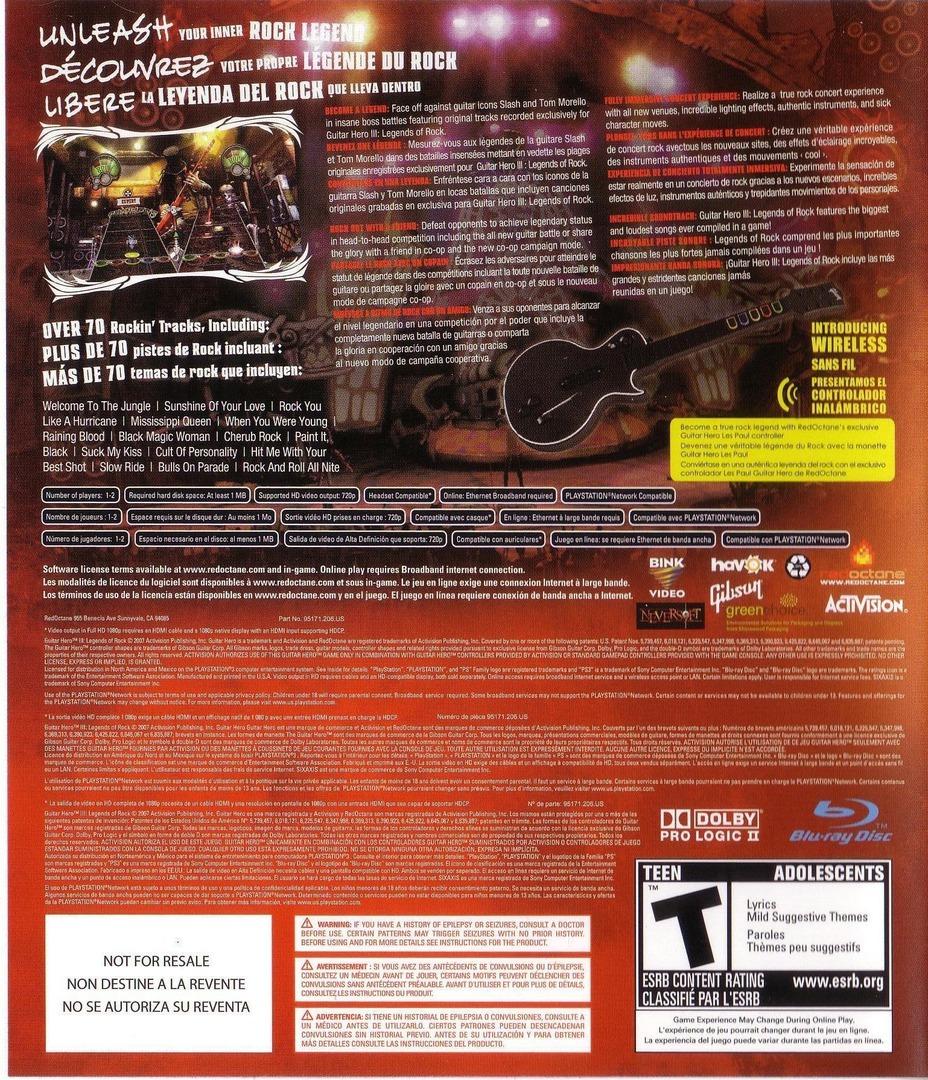 Guitar Hero III: Legends of Rock PS3 backHQ (BLUS30074)
