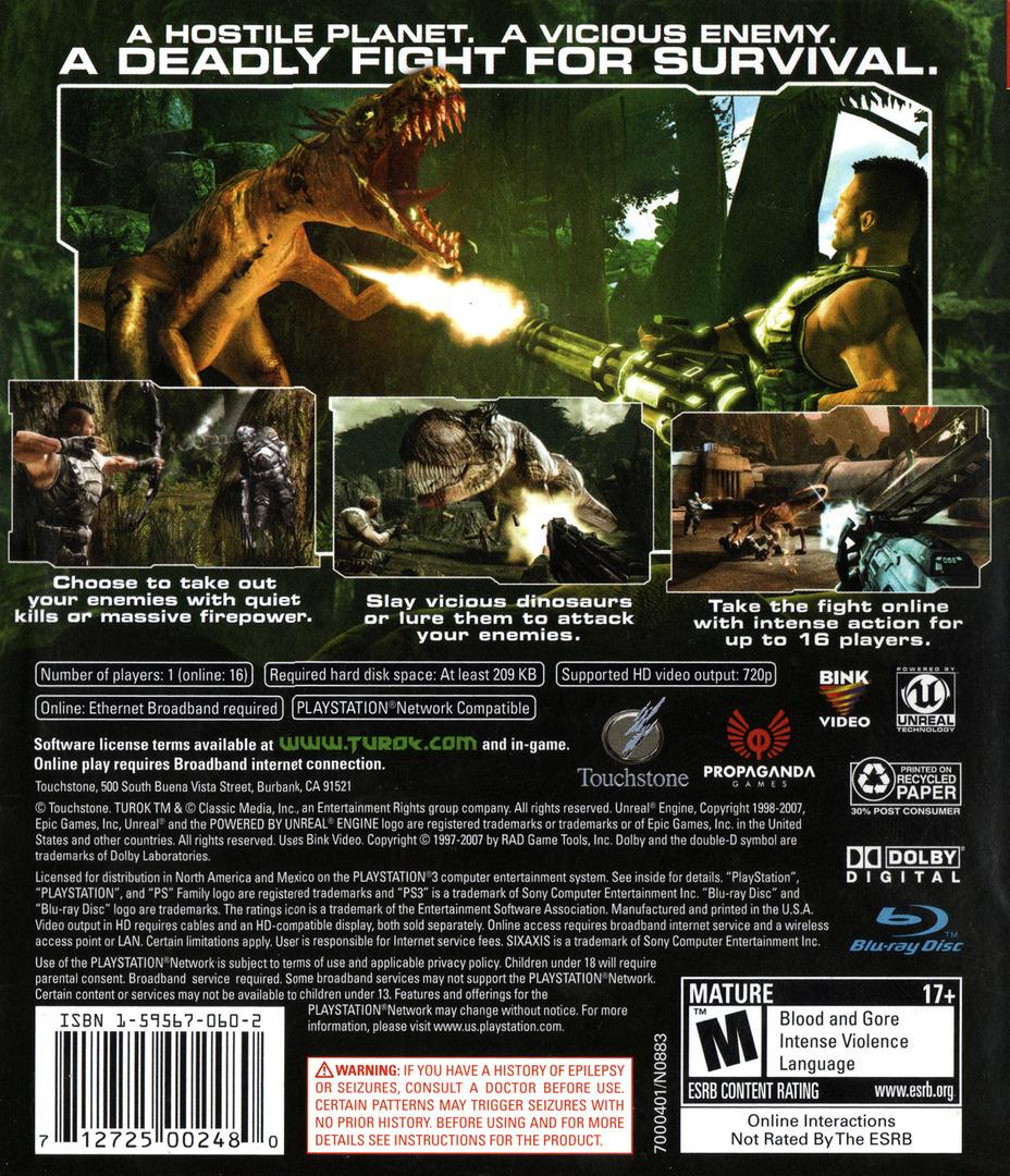 Turok PS3 backHQ (BLUS30104)