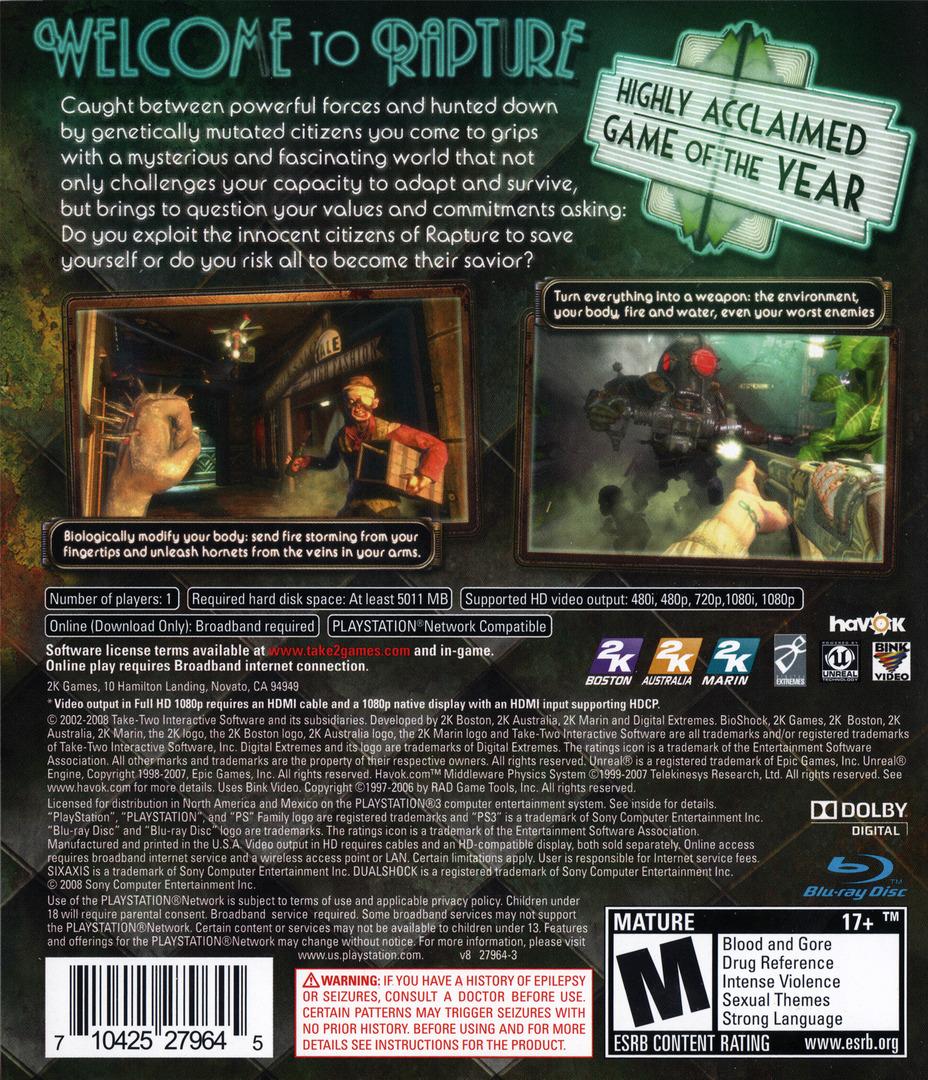 BioShock PS3 backHQ (BLUS30166)
