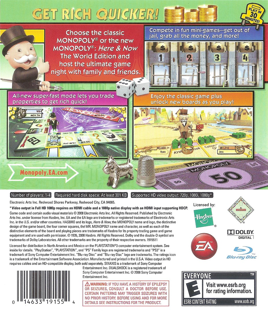 Monopoly PS3 backHQ (BLUS30213)