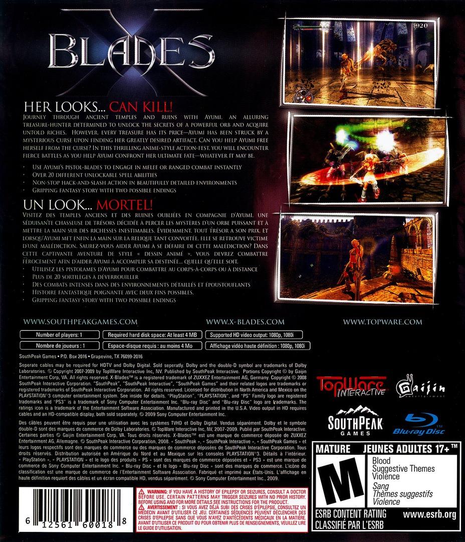 X-Blades PS3 backHQ (BLUS30241)