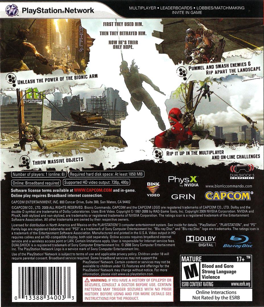 Bionic Commando PS3 backHQ (BLUS30255)