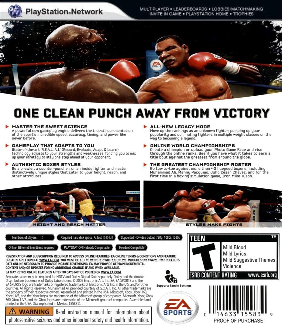 Fight Night: Round 4 PS3 backHQ (BLUS30285)