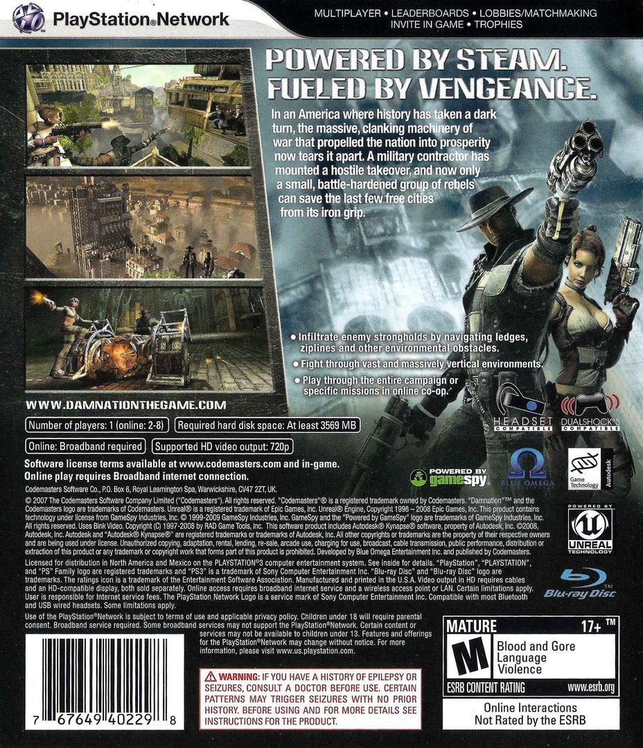Damnation PS3 backHQ (BLUS30304)