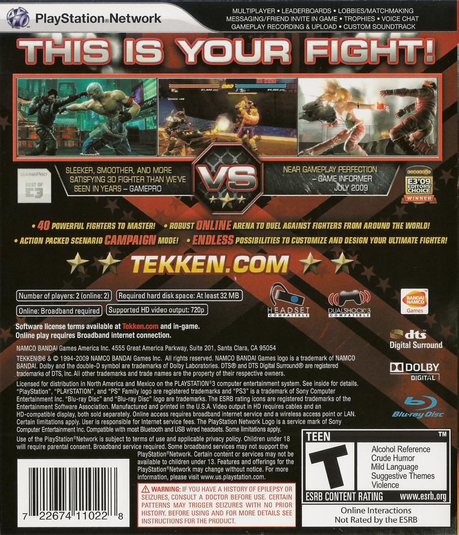 Tekken 6 Array backHQ (BLUS30359)