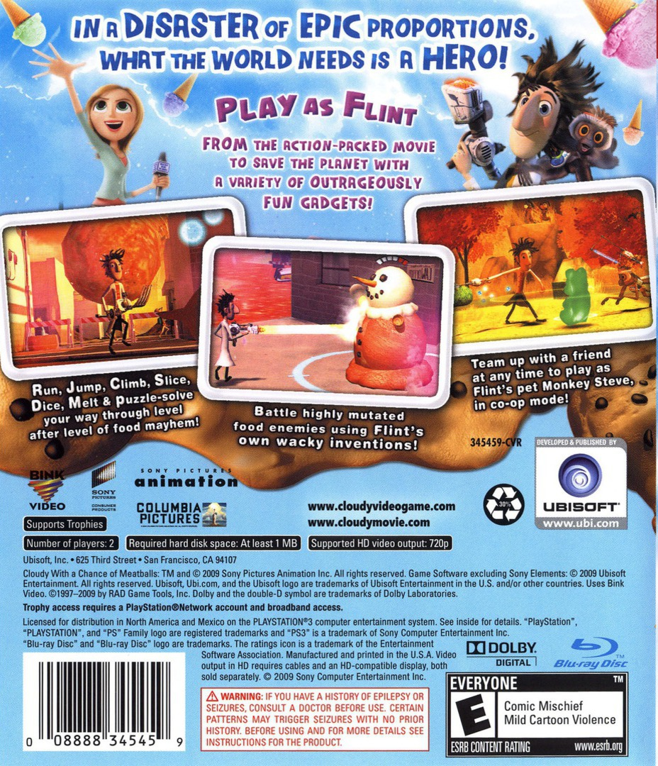 Cloudy with a Chance of Meatballs PS3 backHQ (BLUS30363)