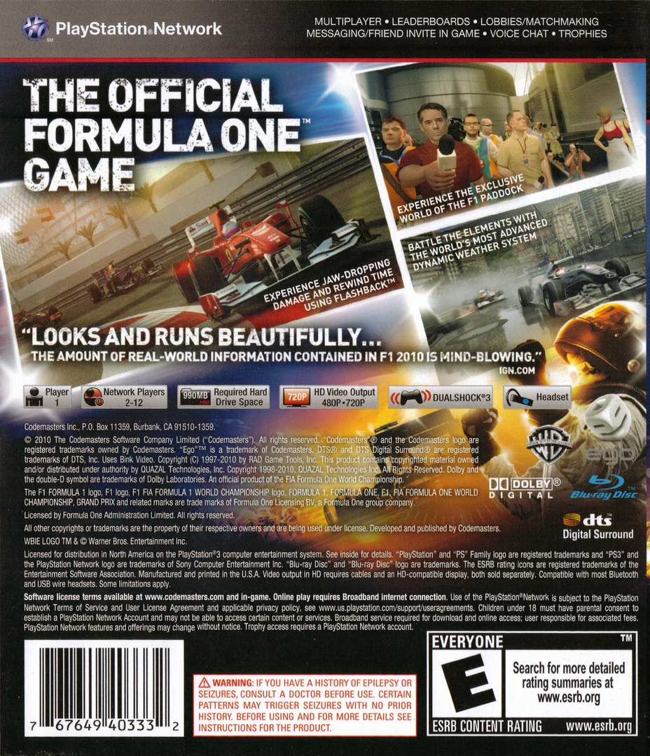 F1 2010 PS3 backHQ (BLUS30379)