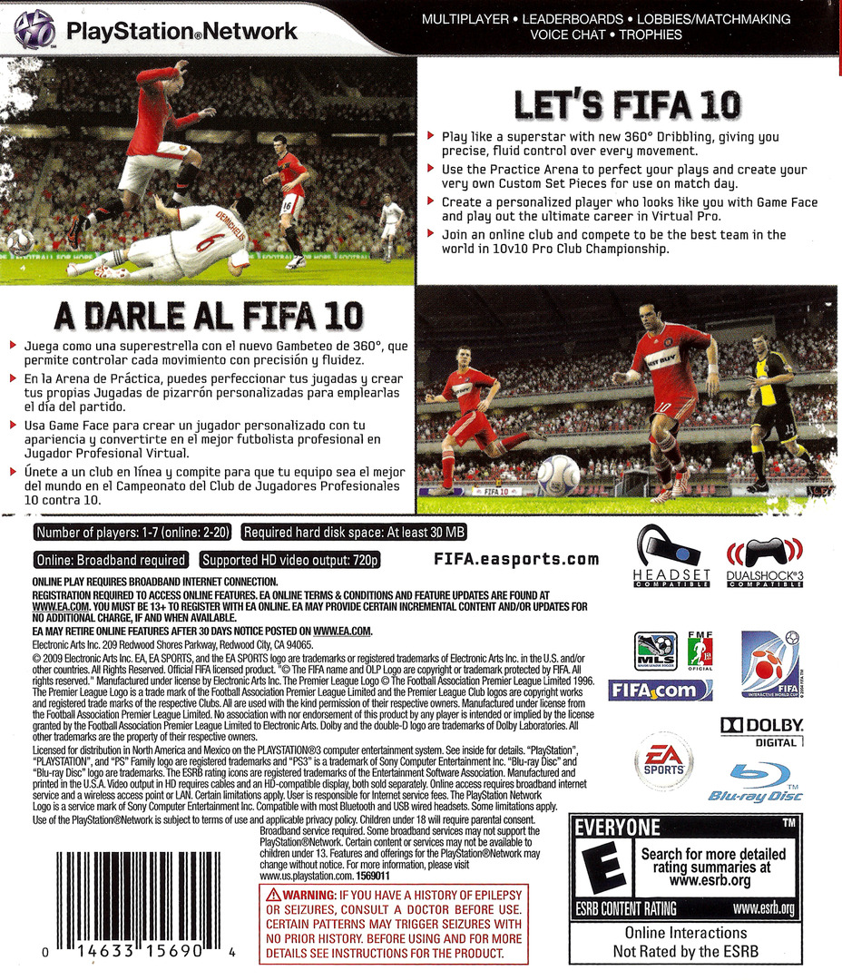 FIFA Soccer '10 PS3 backHQ (BLUS30385)
