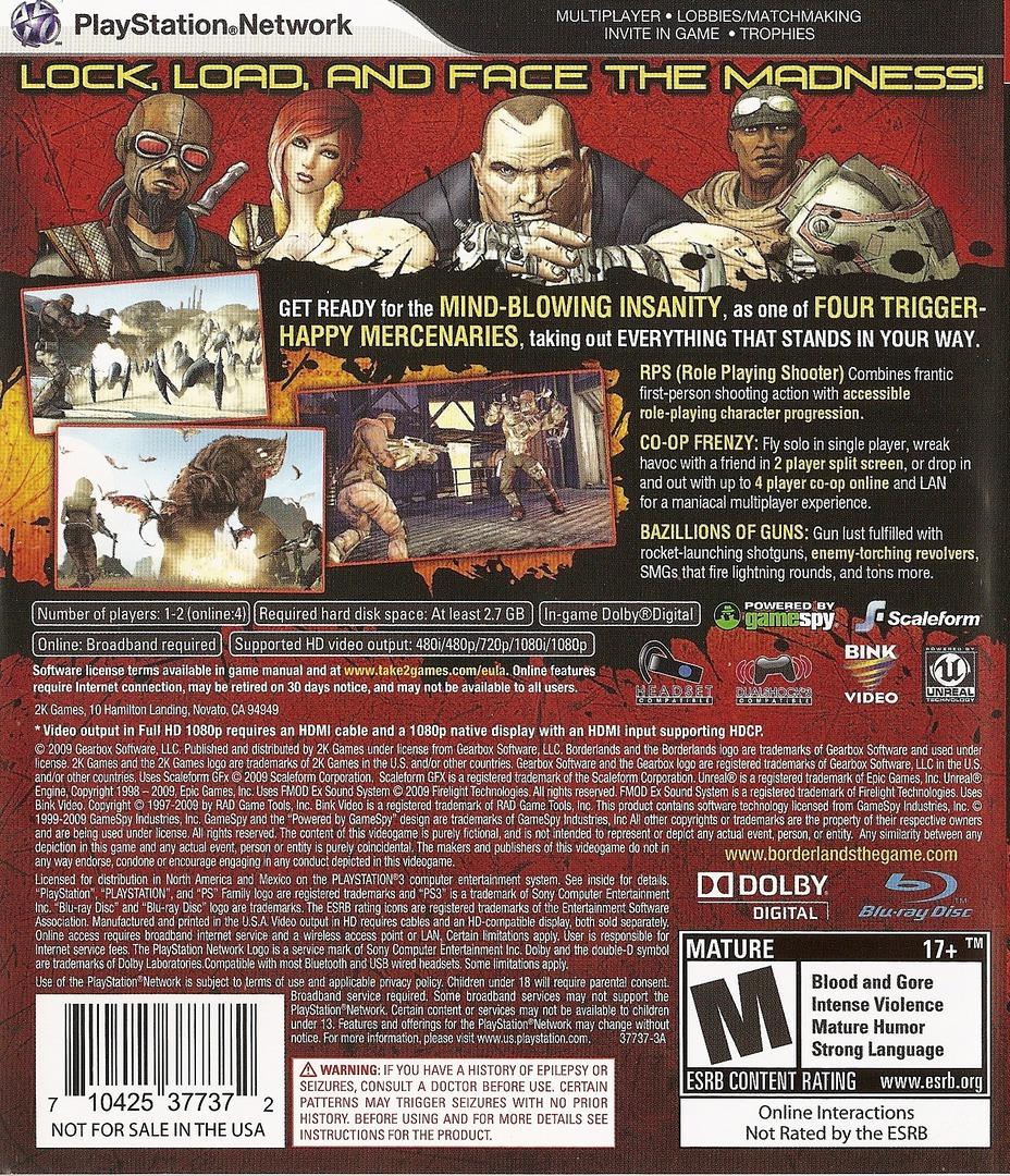 Borderlands PS3 backHQ (BLUS30386)