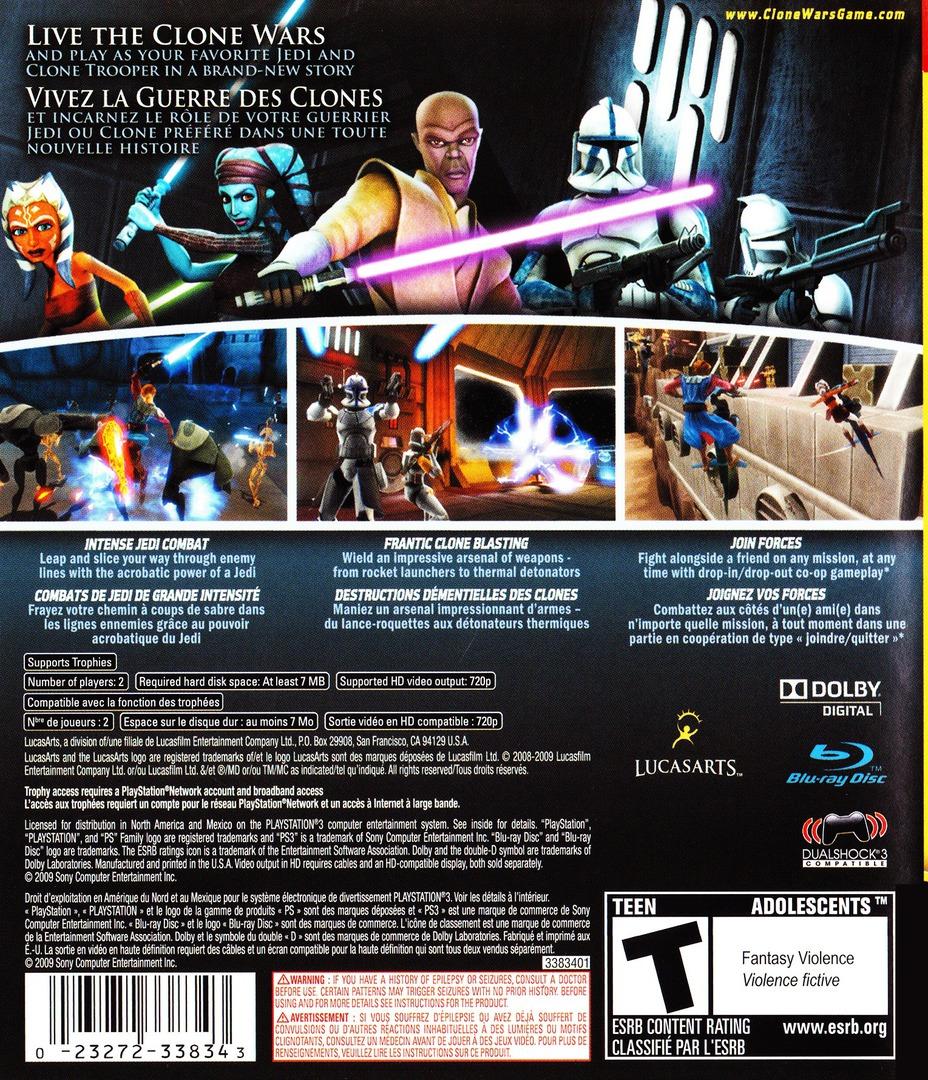 Star Wars The Clone Wars: Republic Heroes PS3 backHQ (BLUS30394)