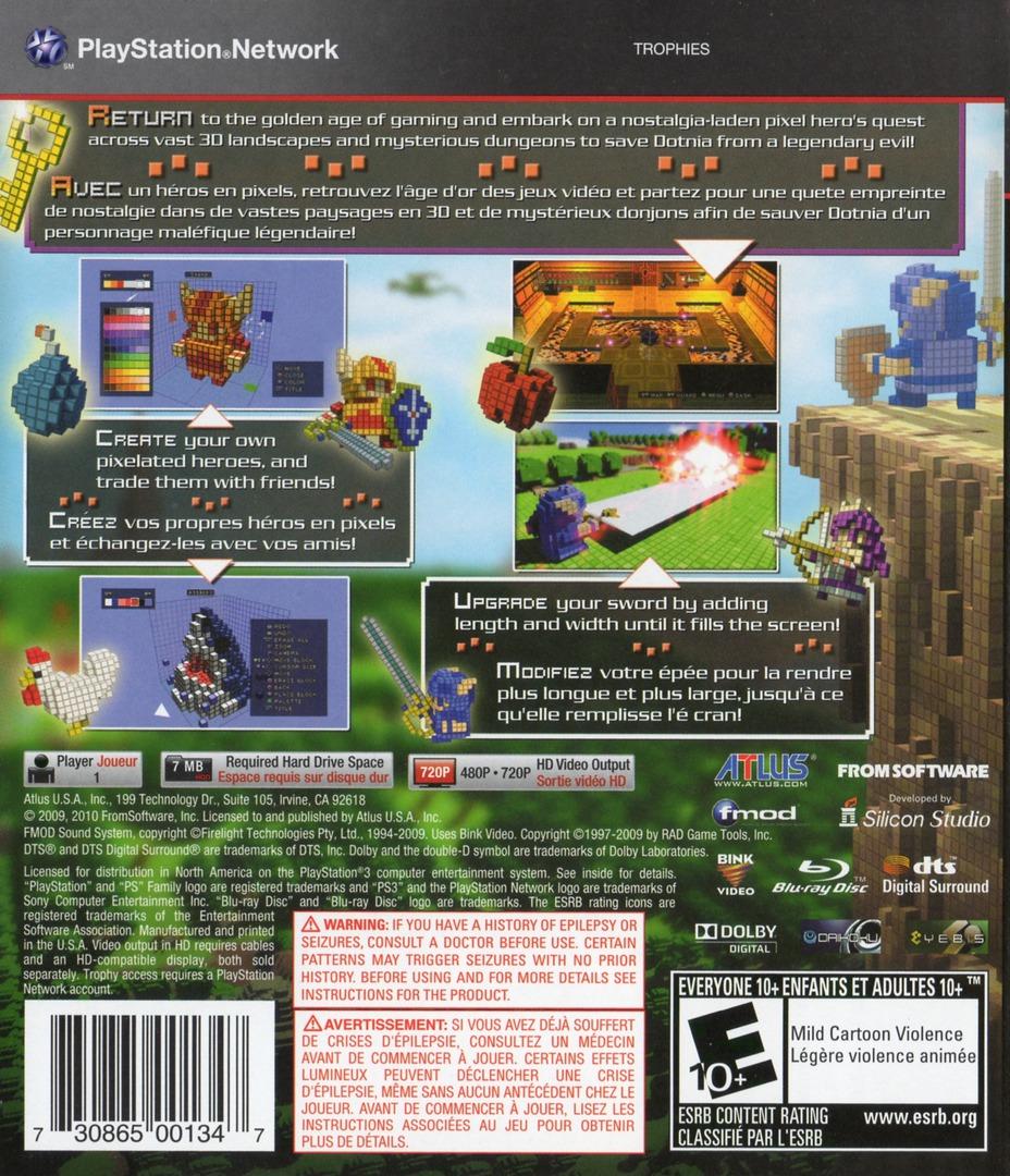 3D Dot Game Heroes PS3 backHQ (BLUS30490)
