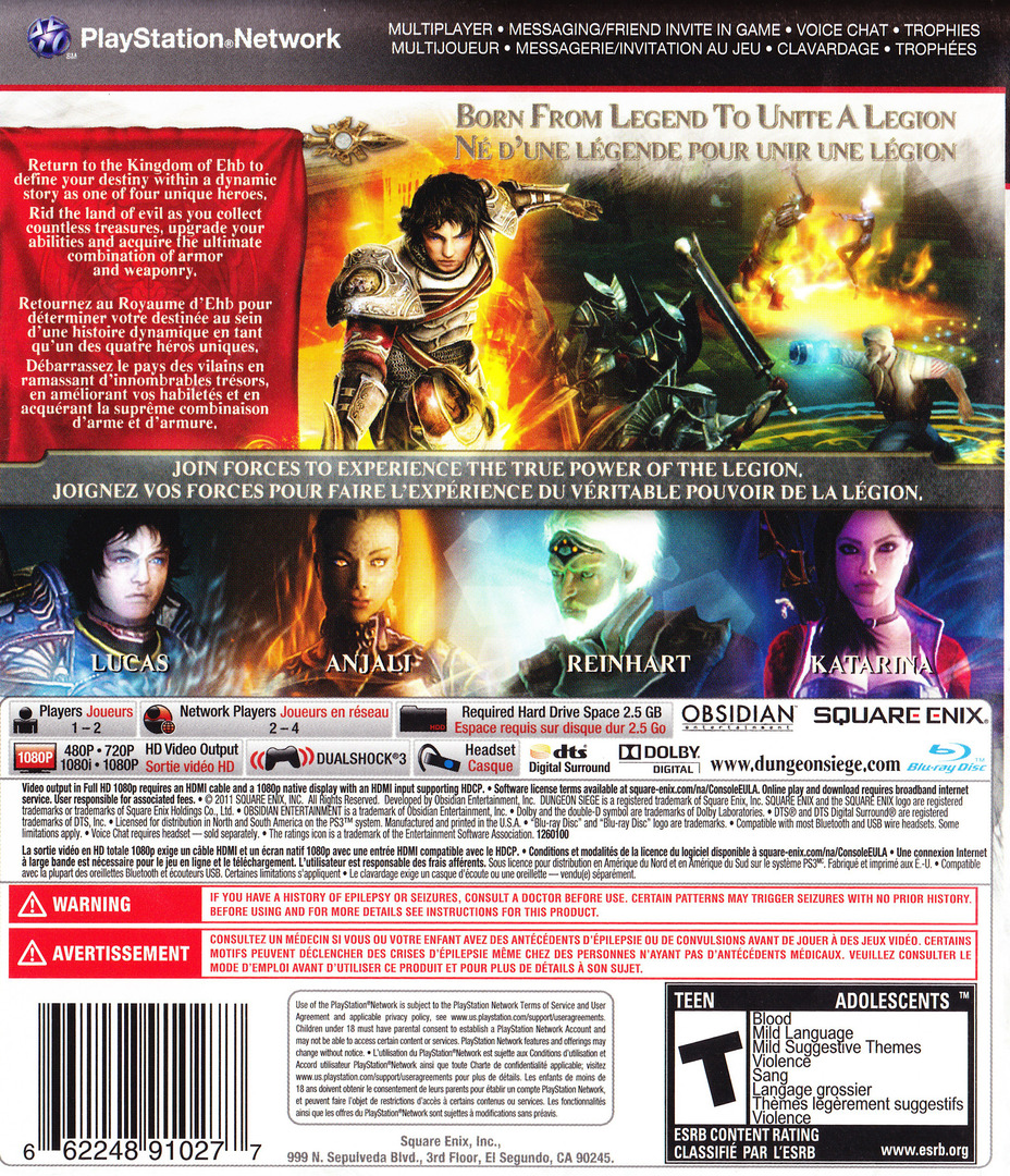 Dungeon Siege III PS3 backHQ (BLUS30510)