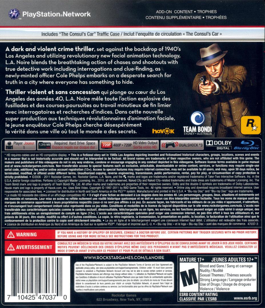 L.A. Noire PS3 backHQ (BLUS30554)
