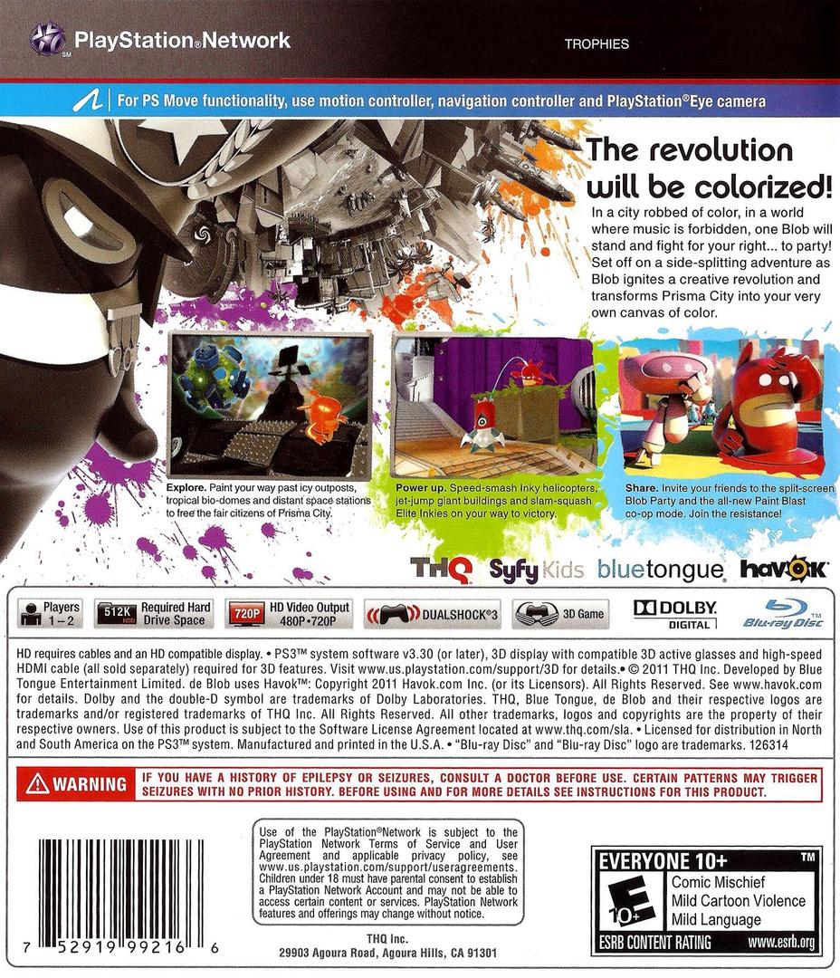 de Blob 2 PS3 backHQ (BLUS30559)