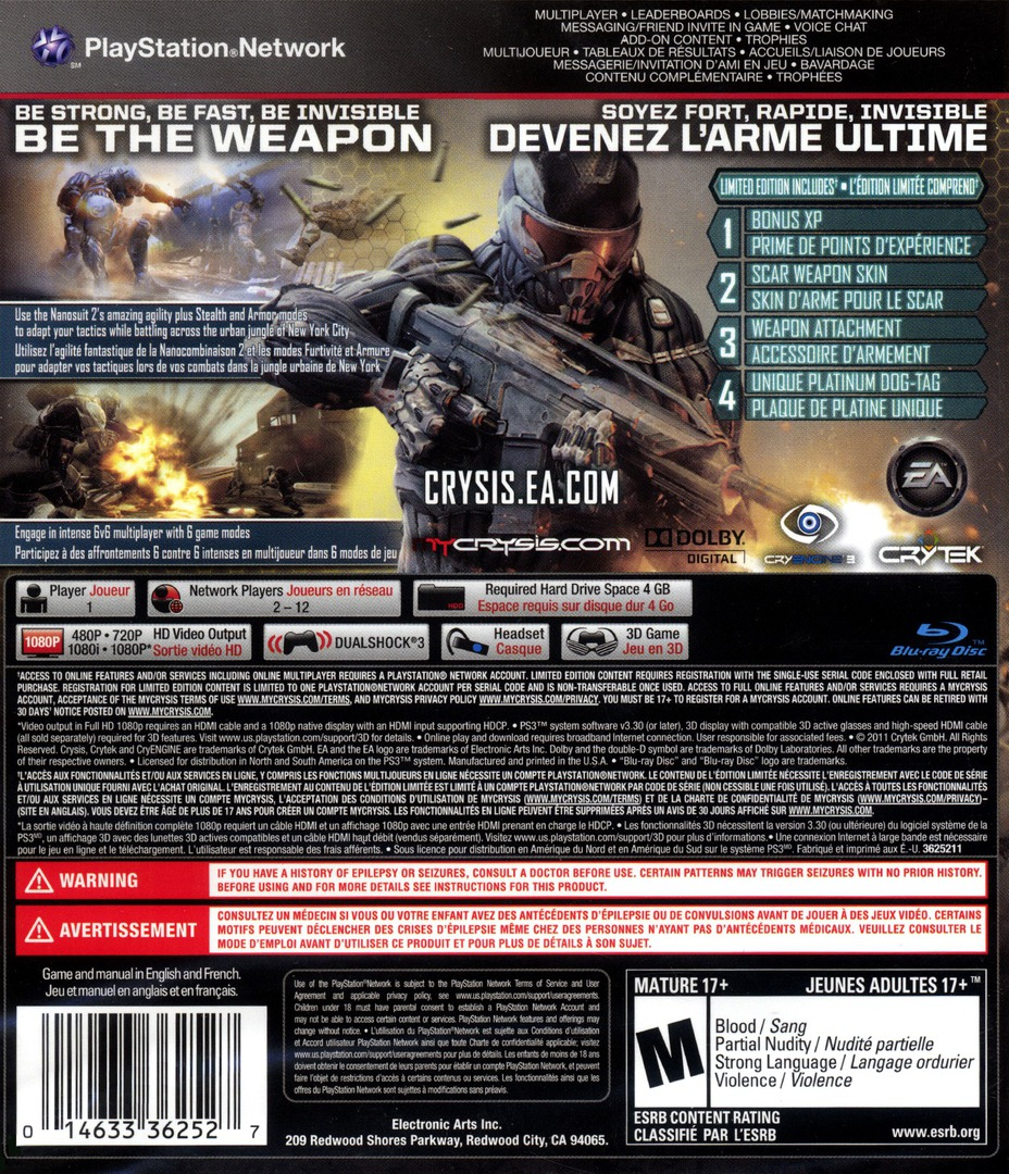 Crysis 2 PS3 backHQ (BLUS30631)