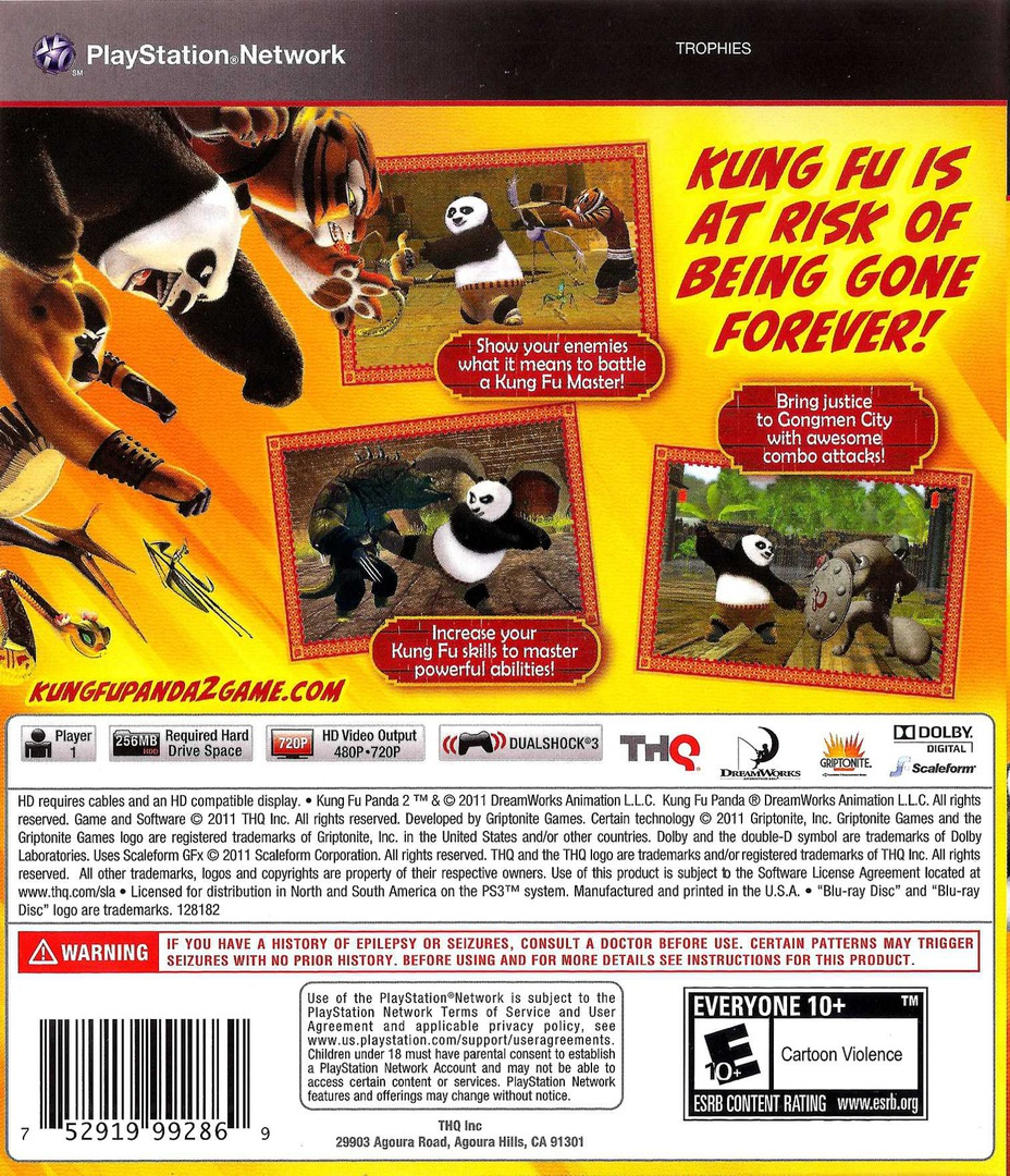 Kung Fu Panda 2 PS3 backHQ (BLUS30634)