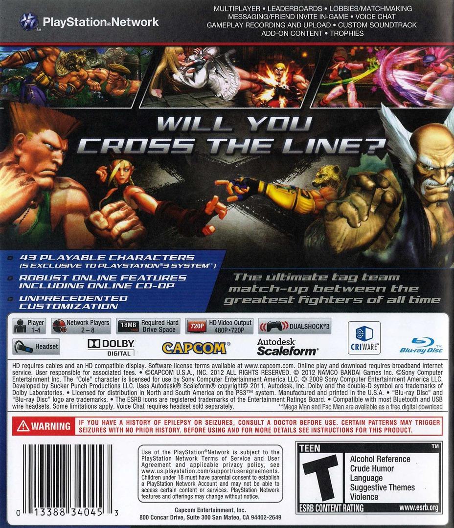 Street Fighter X Tekken PS3 backHQ (BLUS30722)