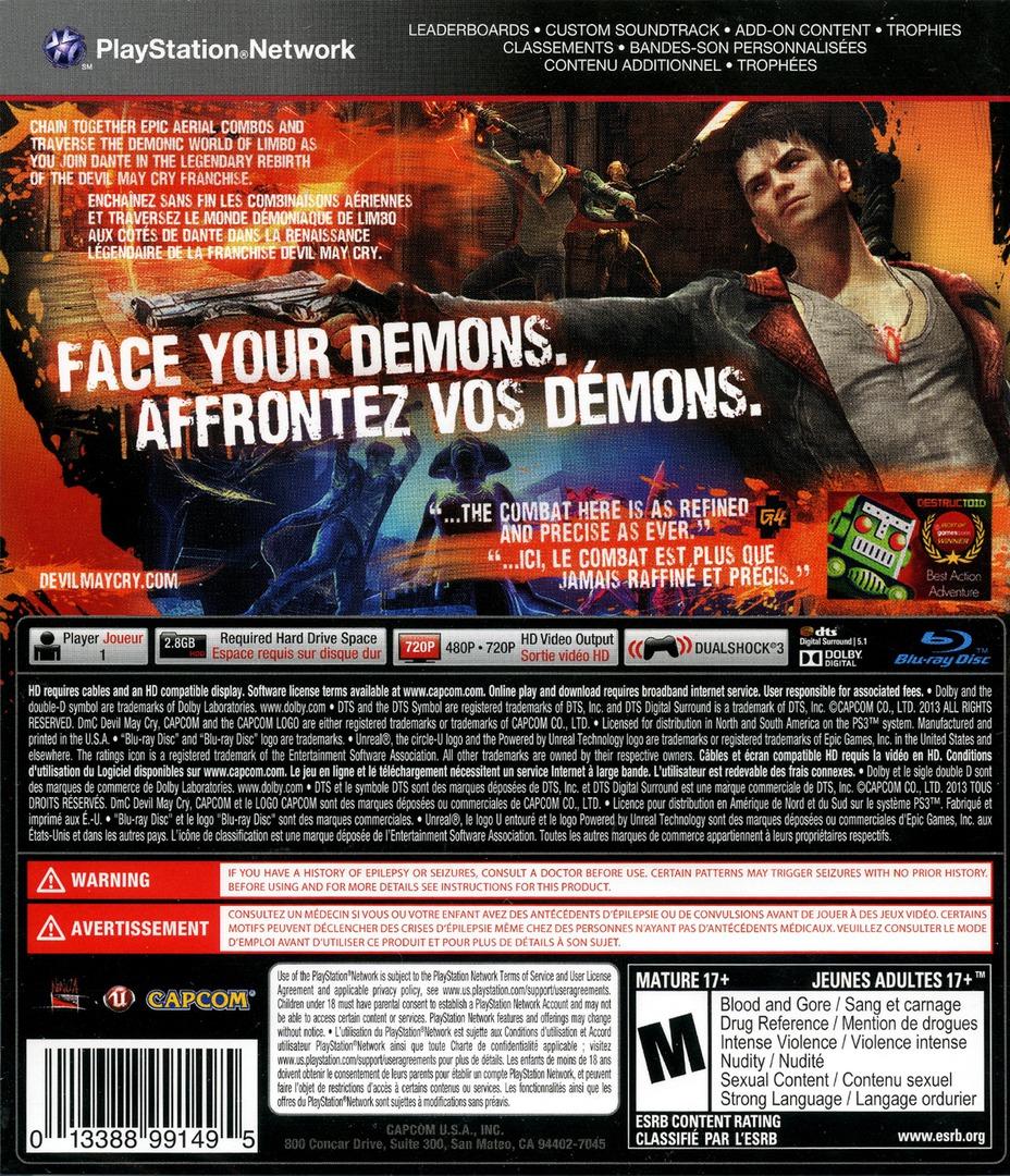 DmC: Devil May Cry PS3 backHQ (BLUS30723)