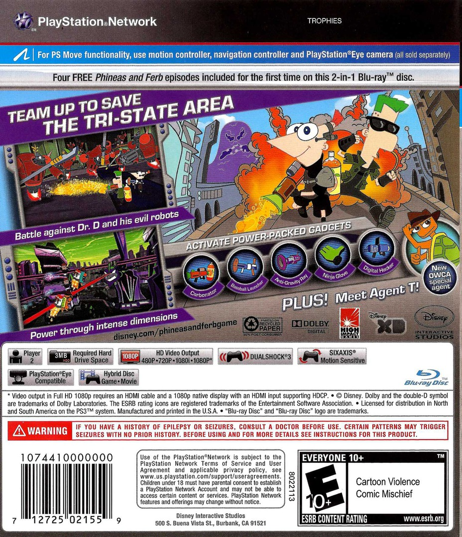 Phineas and Ferb: Across the 2nd Dimension Array backHQ (BLUS30726)