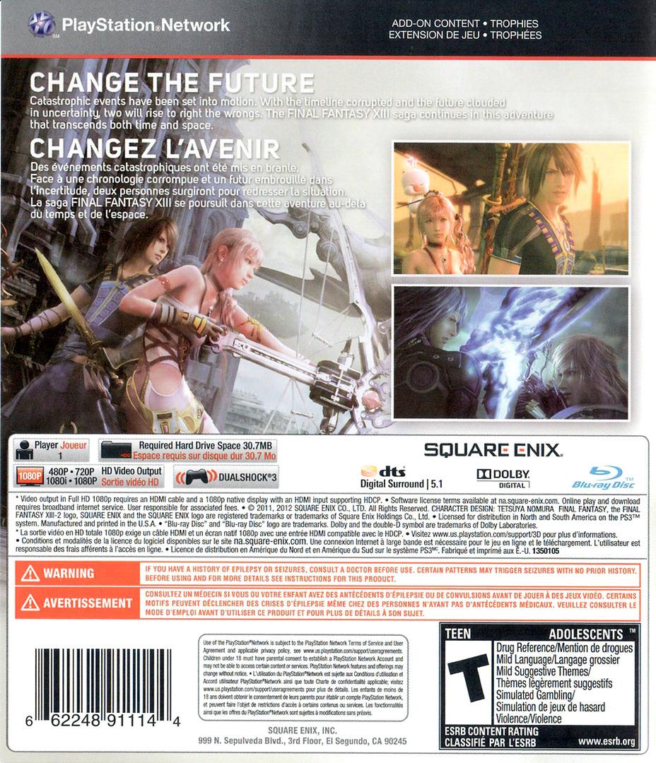 Final Fantasy XIII-2 PS3 backHQ (BLUS30776)