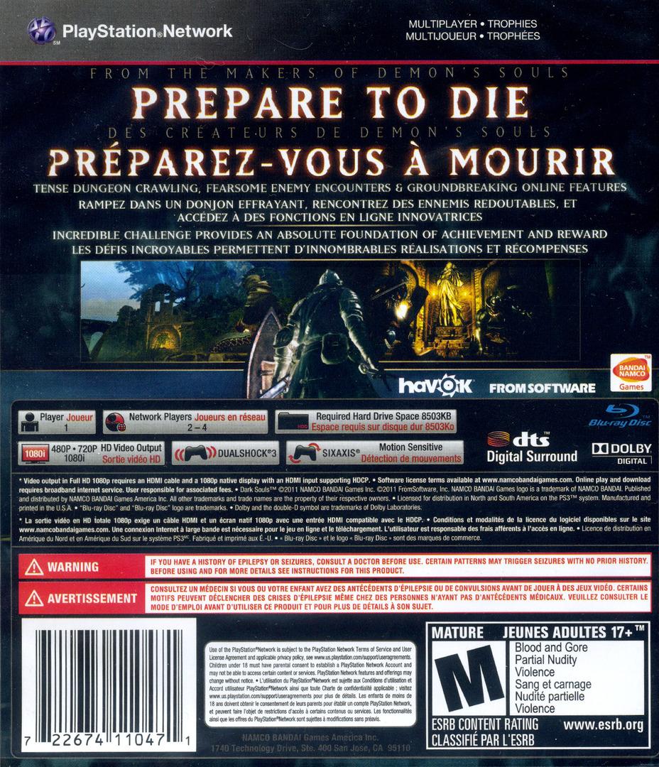 Dark Souls PS3 backHQ (BLUS30782)