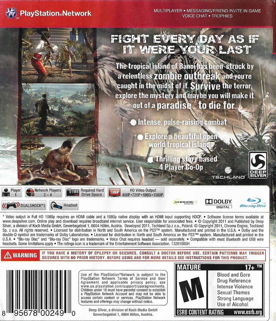 Dead Island PS3 backHQ (BLUS30790)