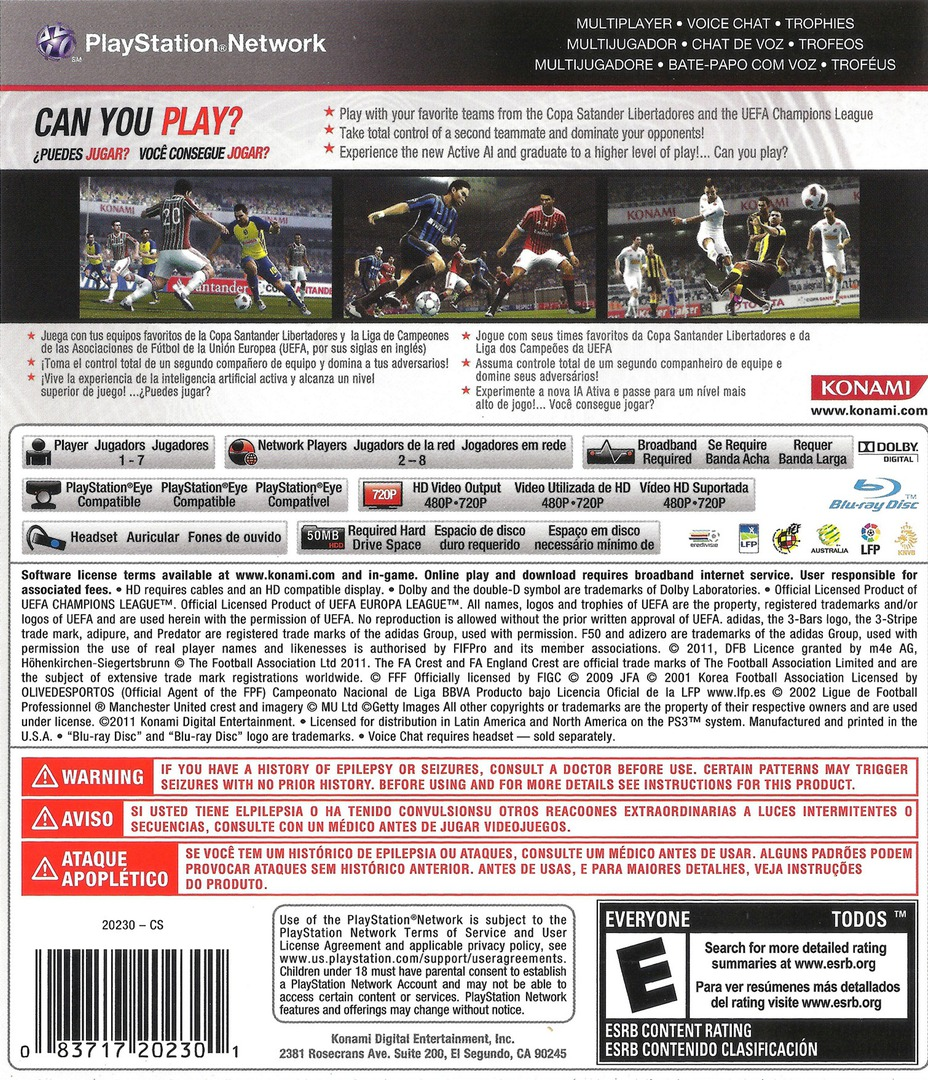Pro Evolution Soccer 2012 PS3 backHQ (BLUS30805)