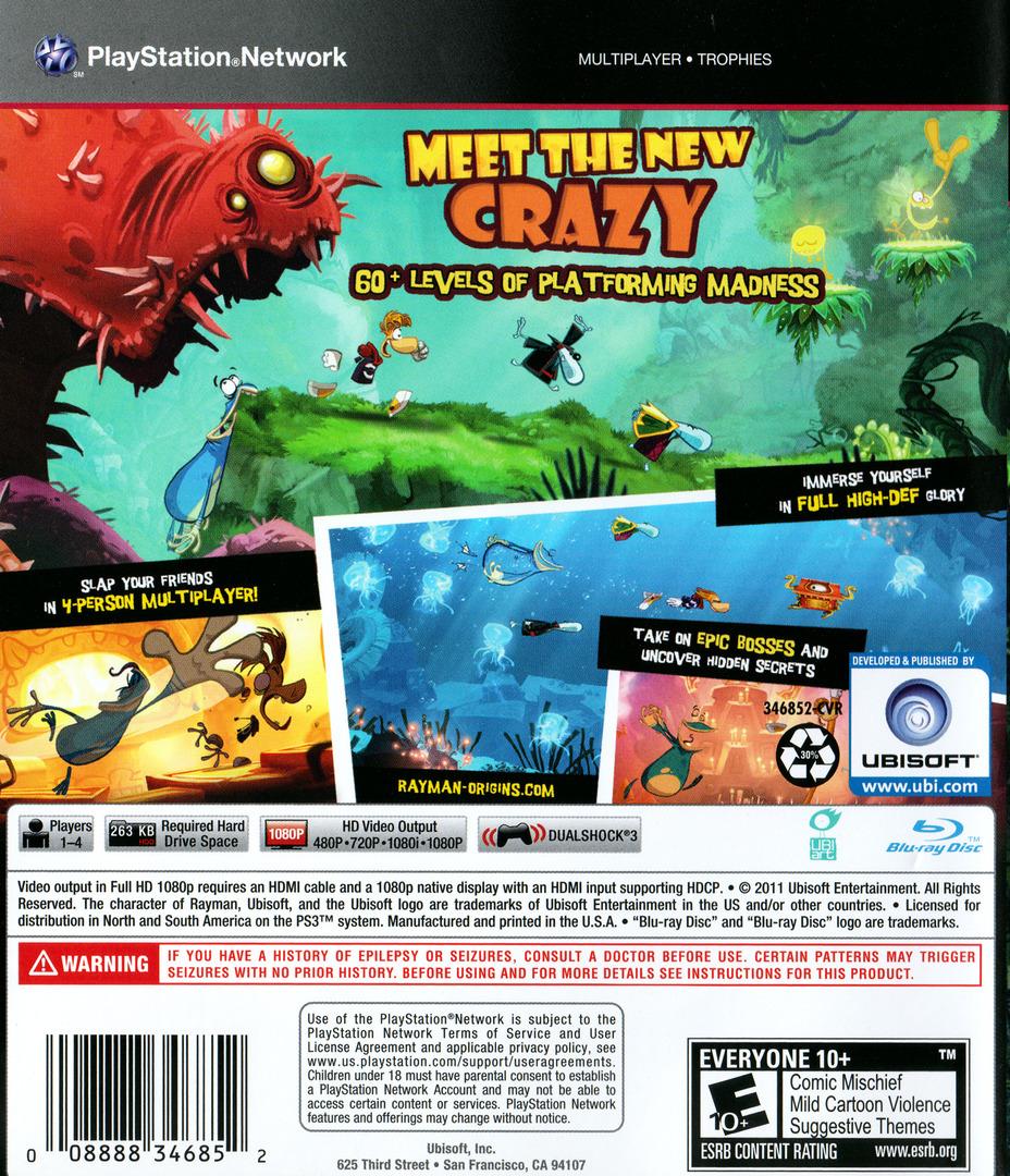 Rayman Origins PS3 backHQ (BLUS30836)