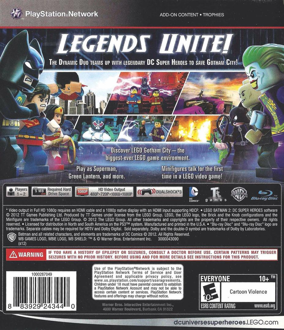 LEGO Batman 2: DC Super Heroes PS3 backHQ (BLUS30837)