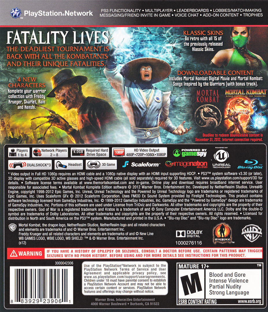 Mortal Kombat Komplete Edition Array backHQ (BLUS30902)