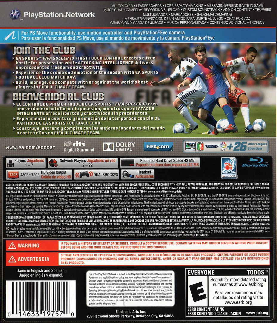 FIFA Soccer 13 PS3 backHQ (BLUS30998)