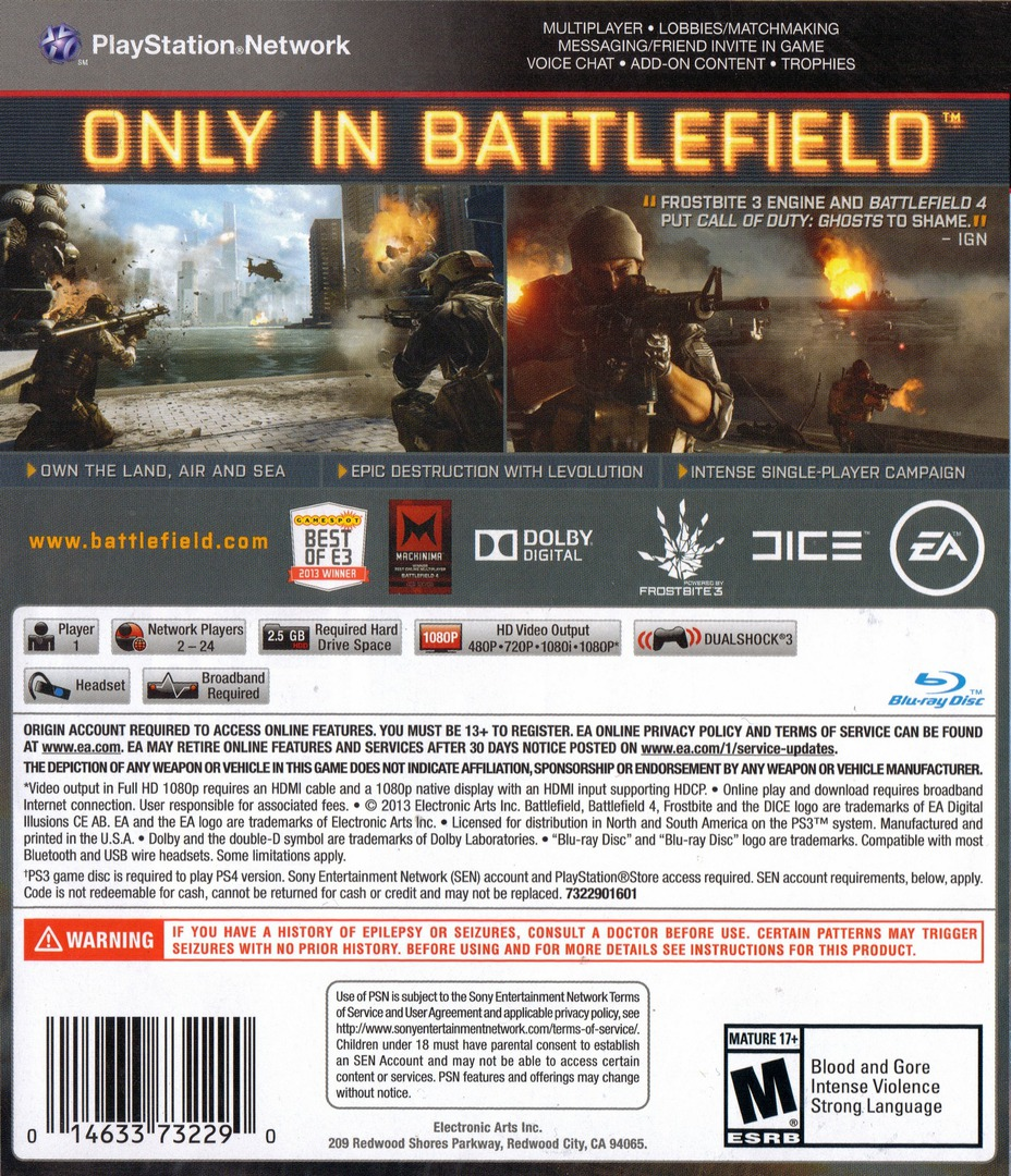 Battlefield 4 PS3 backHQ (BLUS31162)
