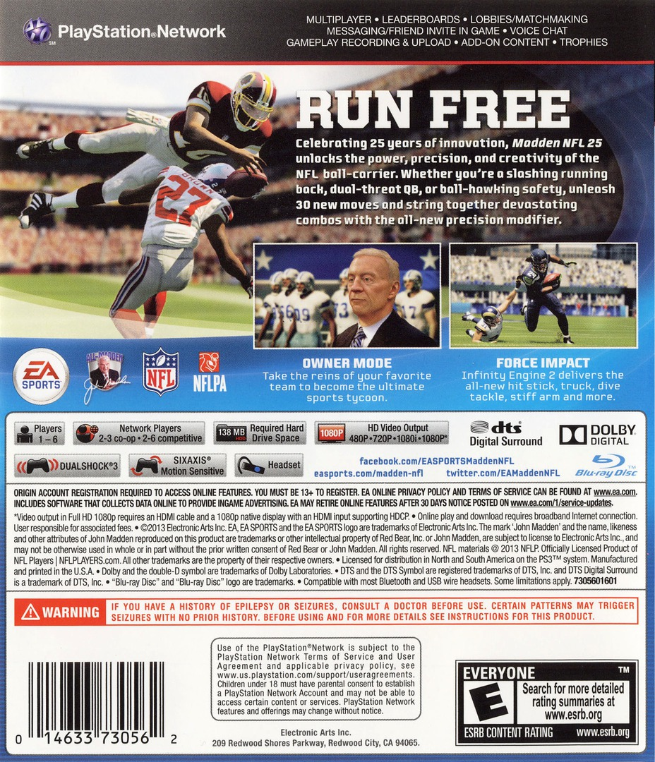 Madden NFL 25 PS3 backHQ (BLUS31178)