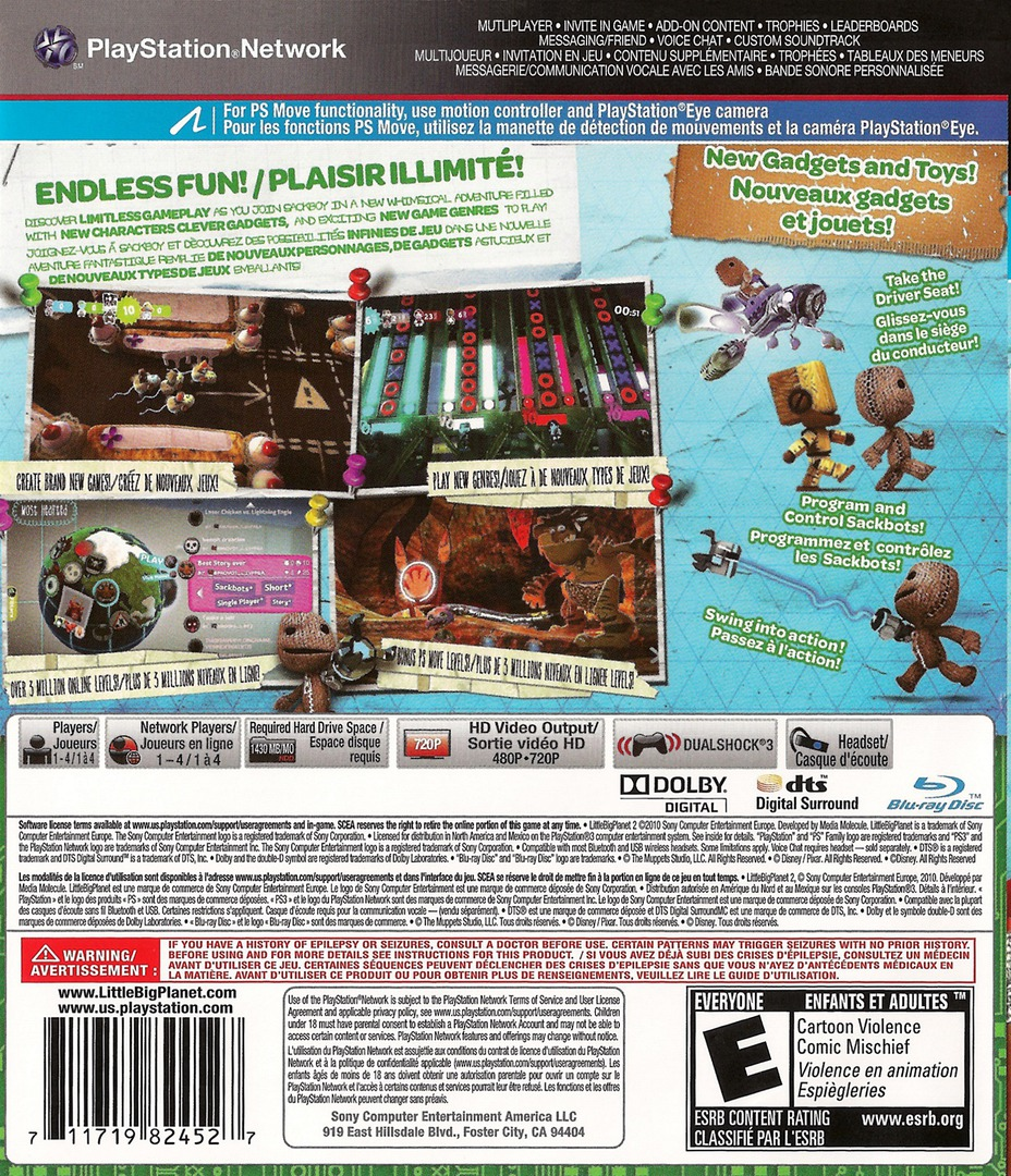 LittleBigPlanet 2 PS3 backHQ2 (BCUS98245)