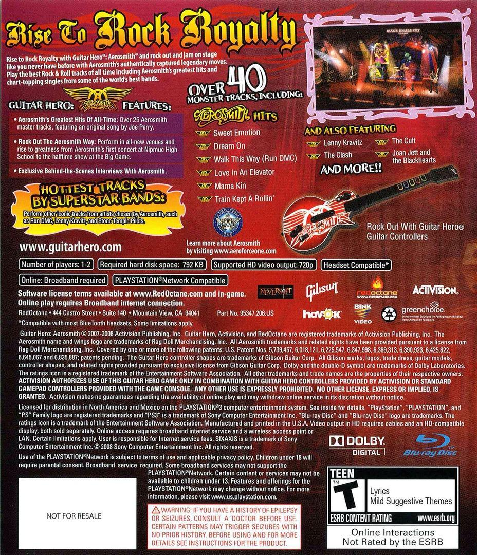 Guitar Hero: Aerosmith PS3 backHQ2 (BLUS30133)