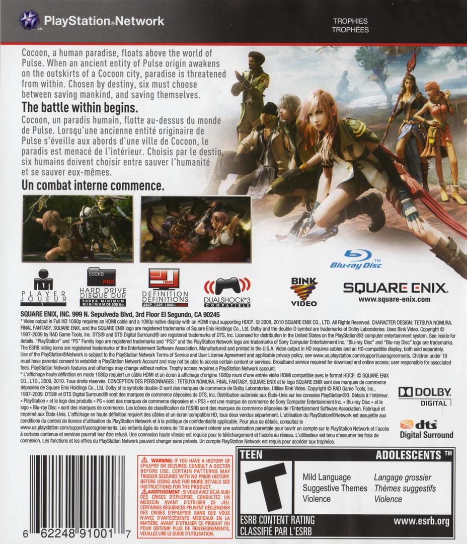 Final Fantasy XIII PS3 backHQ2 (BLUS30416)