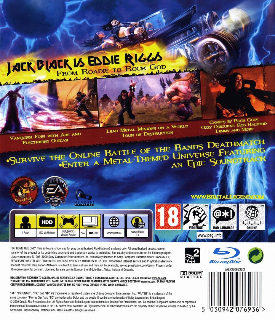 Brutal Legend PS3 backHQB (BLES00562)