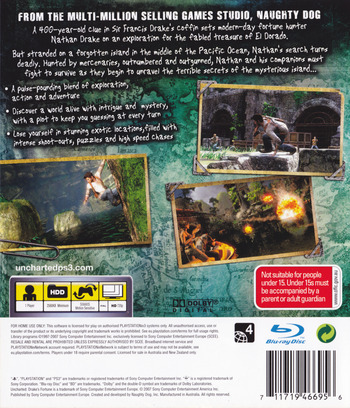 Uncharted: Drake's Fortune PS3 backM (BCES00065)
