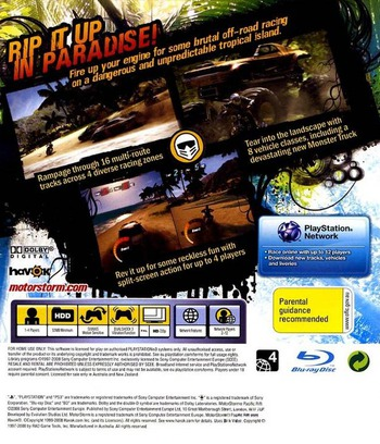 MotorStorm: Pacific Rift PS3 backM (BCES00129)