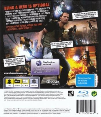 inFamous 2 PS3 backM (BCES01143)