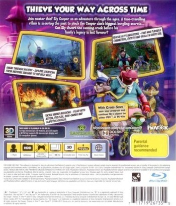 Sly Cooper: Thieves in Time PS3 backM (BCES01284)
