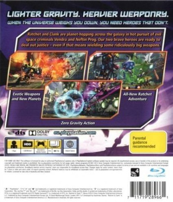 Ratchet & Clank: Into the Nexus PS3 backM (BCES01908)