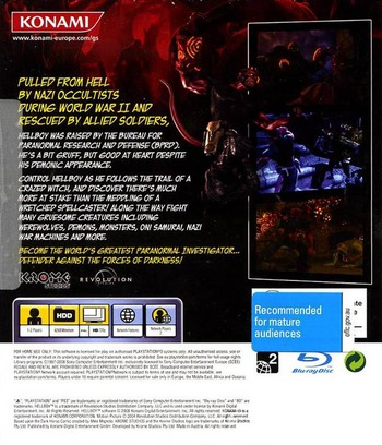 Hellboy: Science of Evil Array backM (BLES00090)